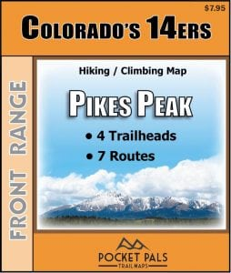 Pikes Peak Hiking climbing map